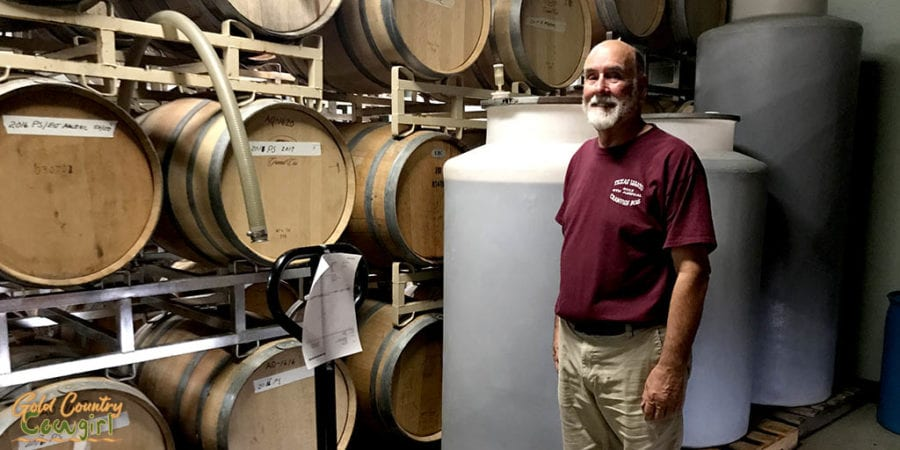 Cellar at Texas Legato Winery