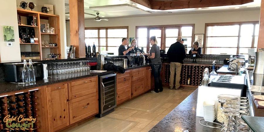wine tasting room at Pedernales Vineyards in Texas Hill Country