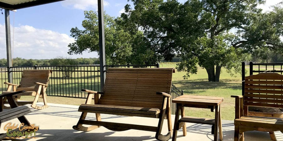 View from patio at Texas Legato Winery
