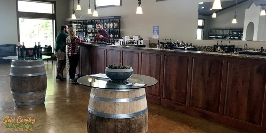 wine tasting room at Wedding Oak in Texas Hill Country