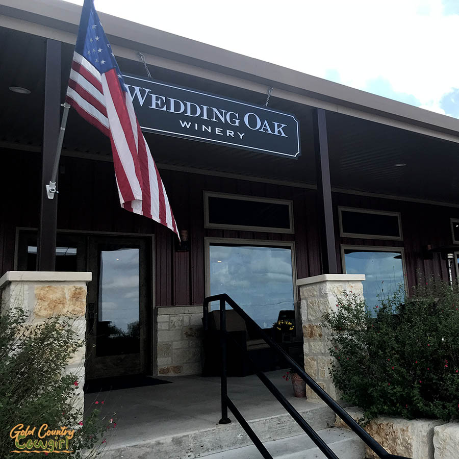 entrance to Wedding Oak wine tasting room in Texas Hill Country