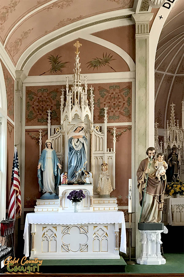 statues in St. John the Baptist Church