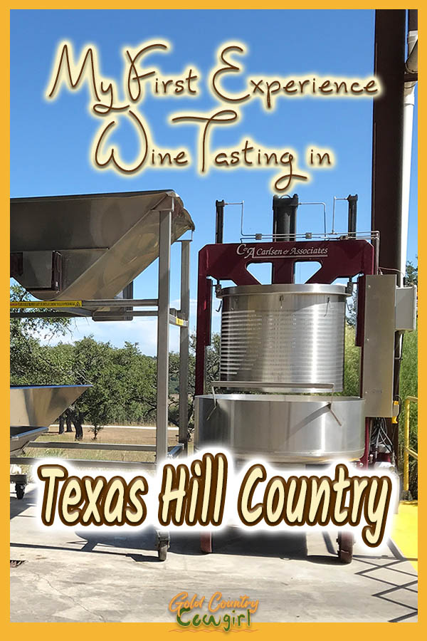 wine equipment with text overlay: My first experience wine tasting in Texas Hill Country