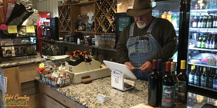 Check out at Blue River Valley Winery tasting room