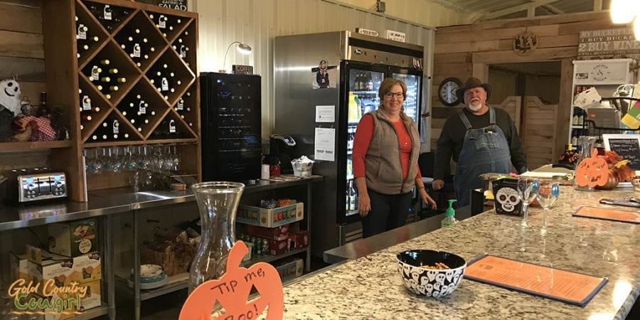 Blue River Valley Winery tasting room near Durant and Ardmore Oklahoma