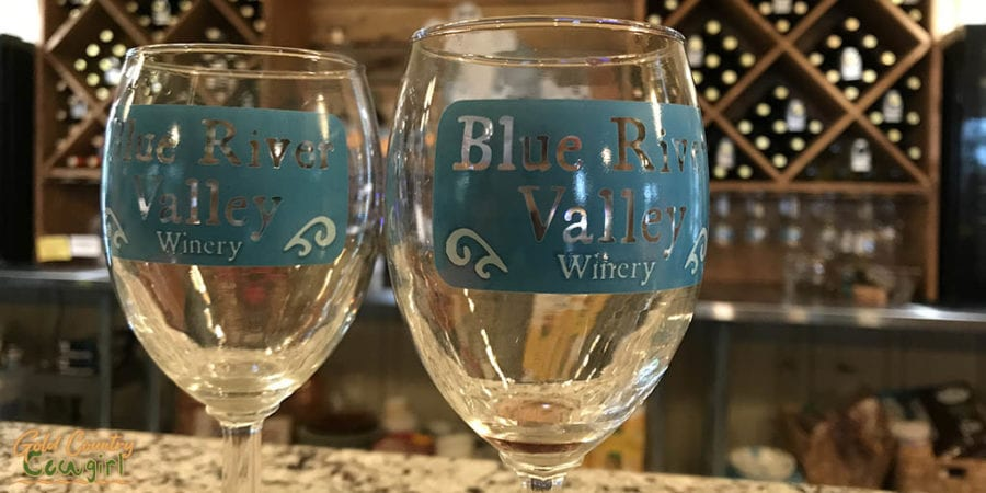 Blue River Valley Winery glasses
