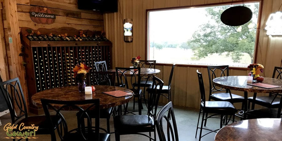 Blue River Valley Winery tasting room
