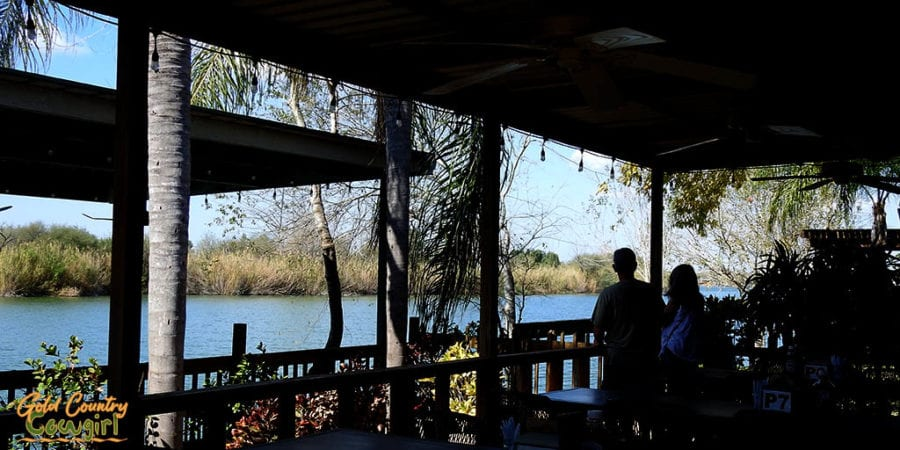 View of the Rio Grande from the patio at the Riverside Club