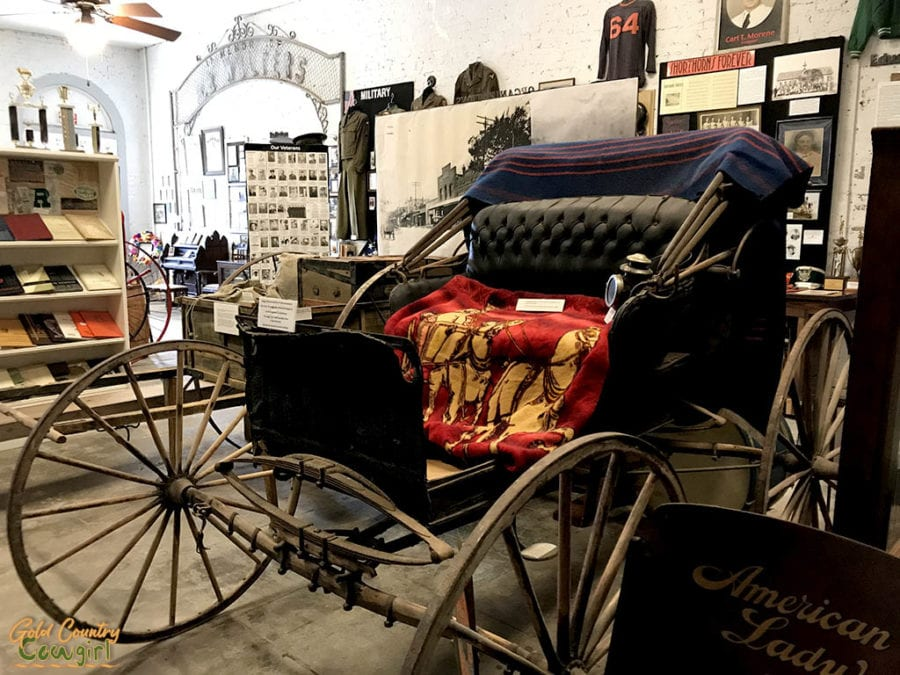 carriage on display at Schulenburg Historical Museum