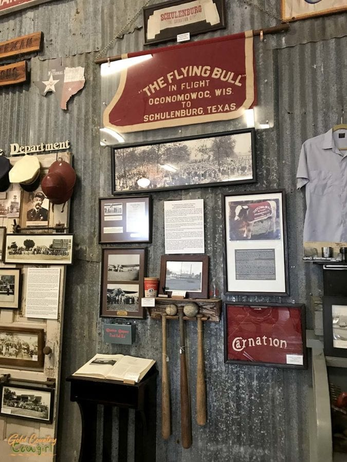 The Flying Bull exhibit at Schulenburg Historical Museum