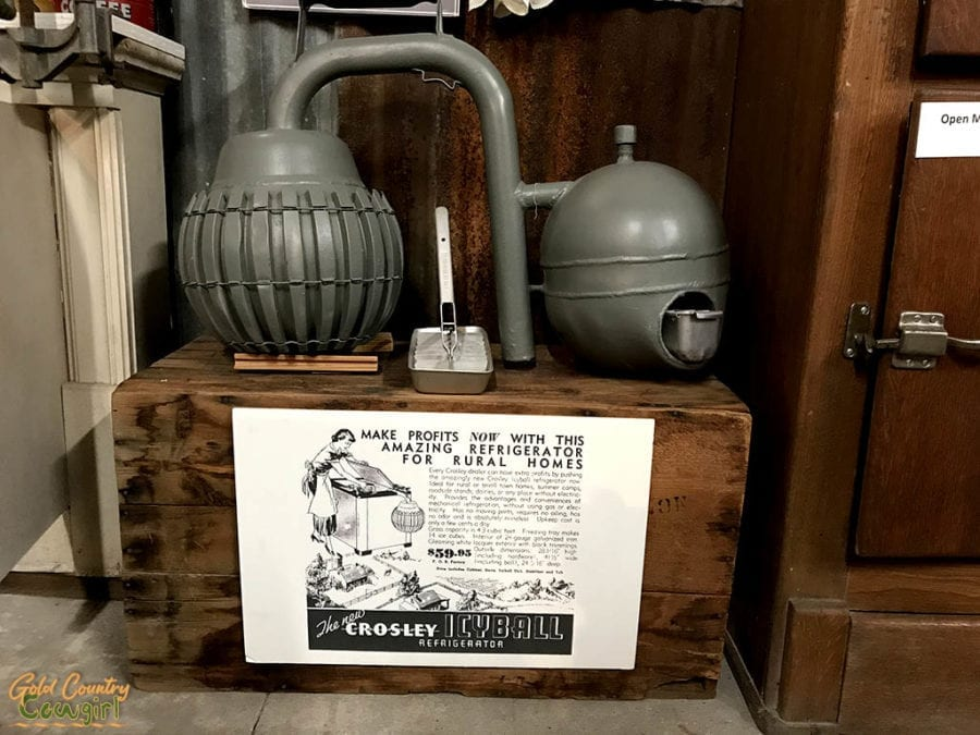 Icyball exhibit at Schulenburg Historical Museum