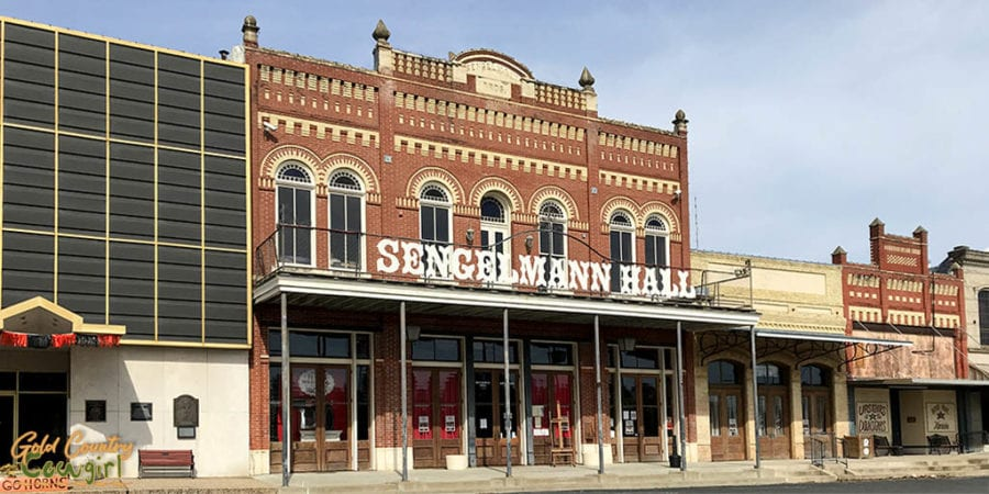 exterior of Sengelmann Hall, one of the best places to visit in Schulenburg, Texas