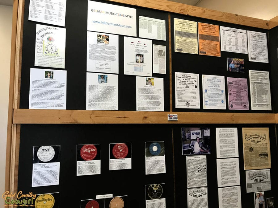posters and other items on exhibit at Texas Polka Music Museum, Schulenburg, Texas