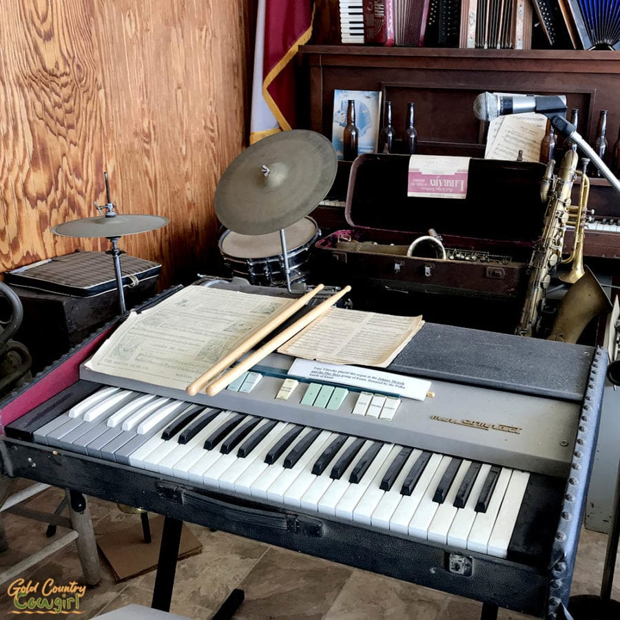 keyboard and drums at Texas Polka Music Museum in Schulenburg, Texas