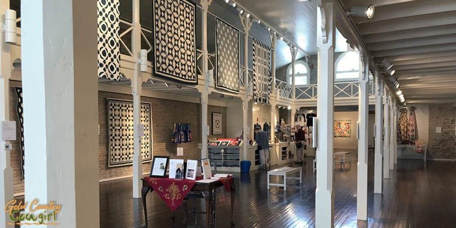 Antique American quilt exhibit at Texas Quilt Museum in La Grange, Texas