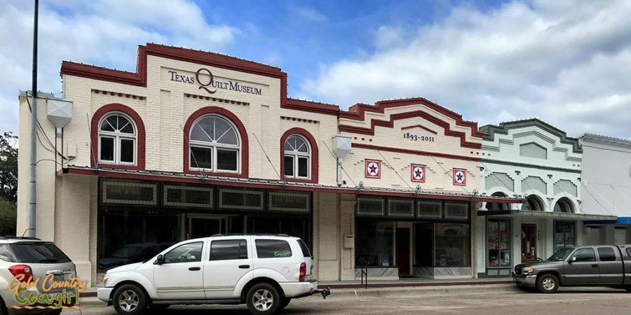exterior of Texas Quilt Museum in La Grange, Texas