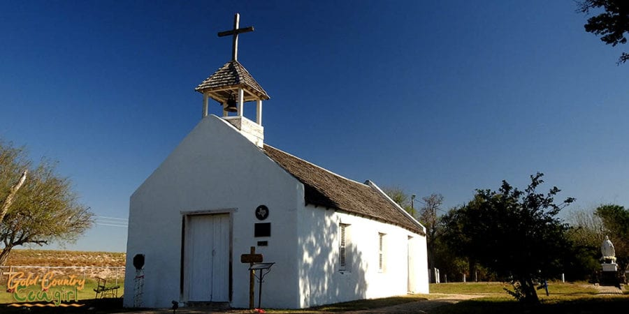 exterior of La Lomita Chapel in Mission, Texas