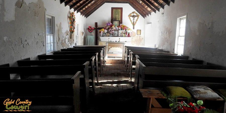 Interior of La Lomita Chapel