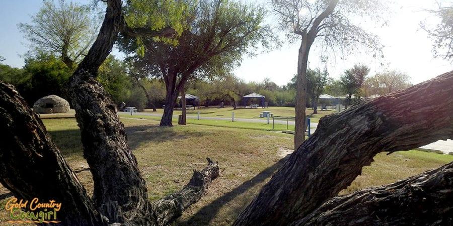 Park-like grounds at La Lomita Chapel