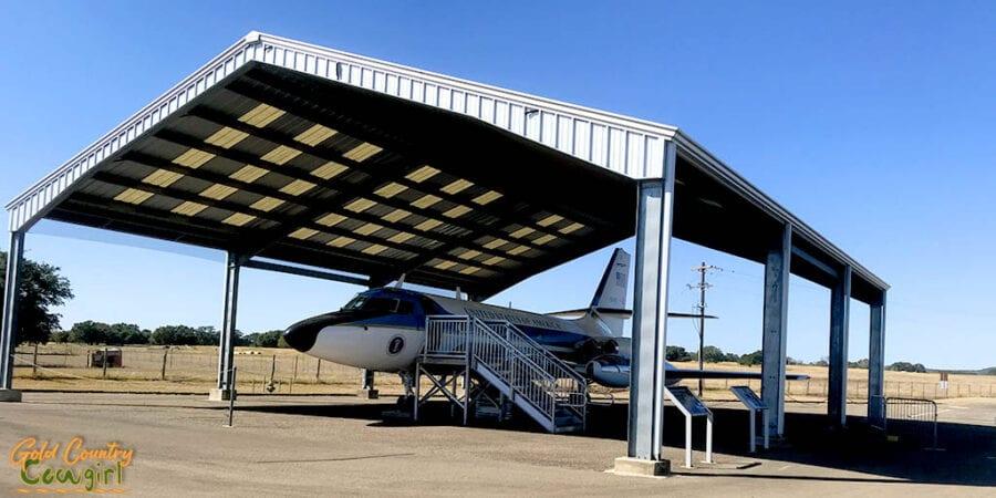 Air Force one half at Lyndon B. Johnson National Historical Park