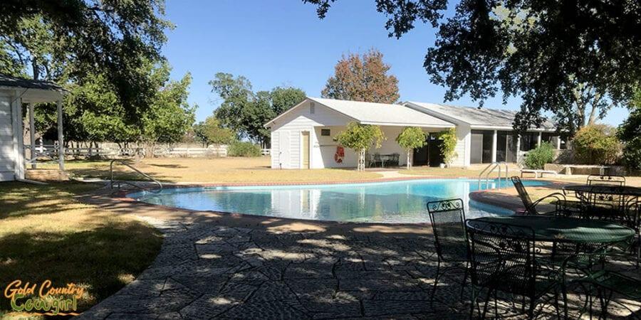Texas Whte House pool at Lyndon B. Johnson National Historical Park