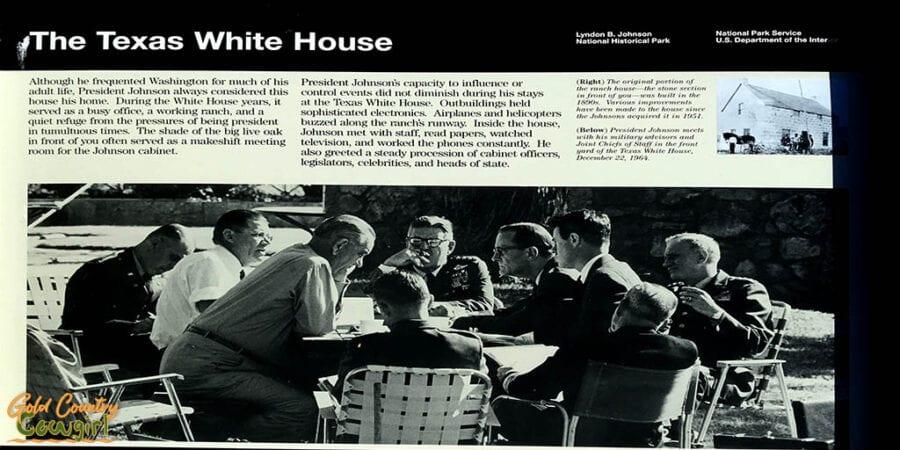 Texas White House sign at Lyndon B. Johnson National Historical Park