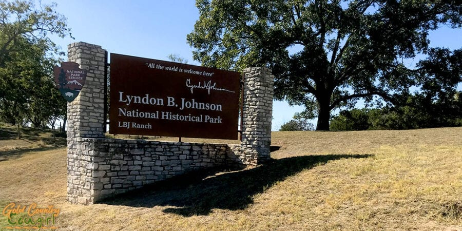 Lyndon B. Johnson Natioinal Historical Park entrance sign