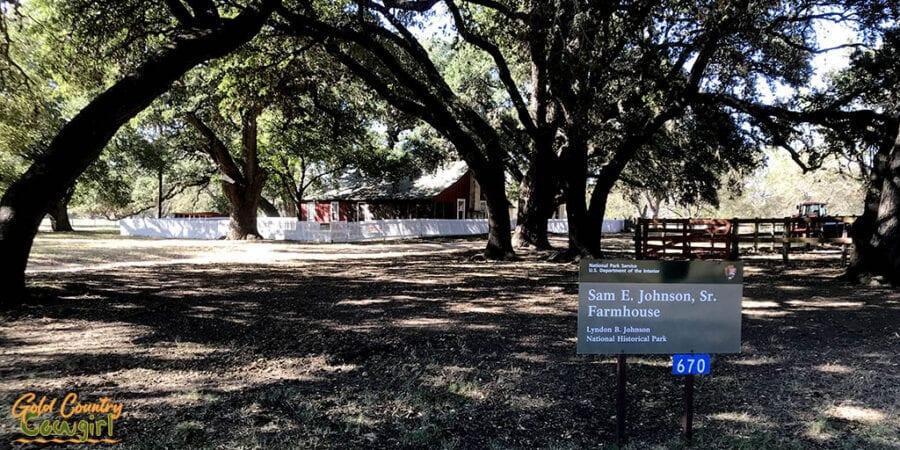 Grandparents' farmhouse at Lyndon B. Johnson National Historical Park
